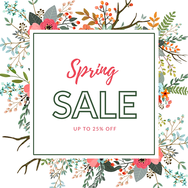 Colorful Floral Spring Sale Instagram Po