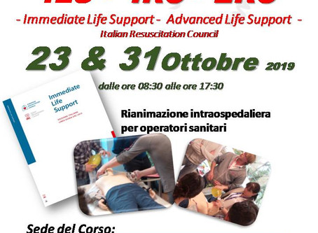 Concluse le prime due giornate del corso di Immediate Life Support