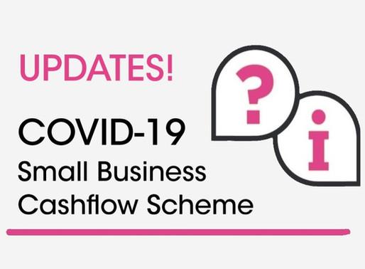 Update to Small Business Cashflow (loan) Scheme