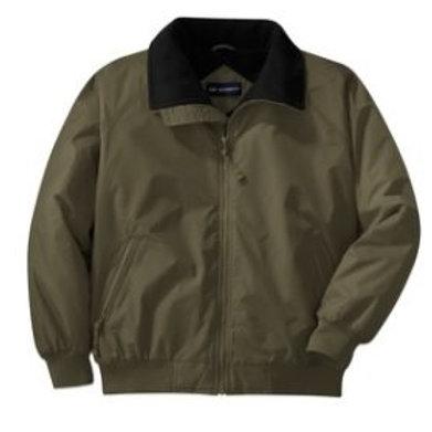 Fleece-Lined Weatherproof Jacket Embrodiered