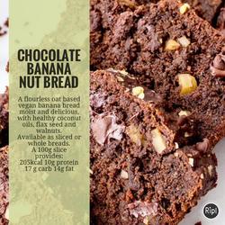 Chocolate WLNUT BANANA BREAD - VEGAN