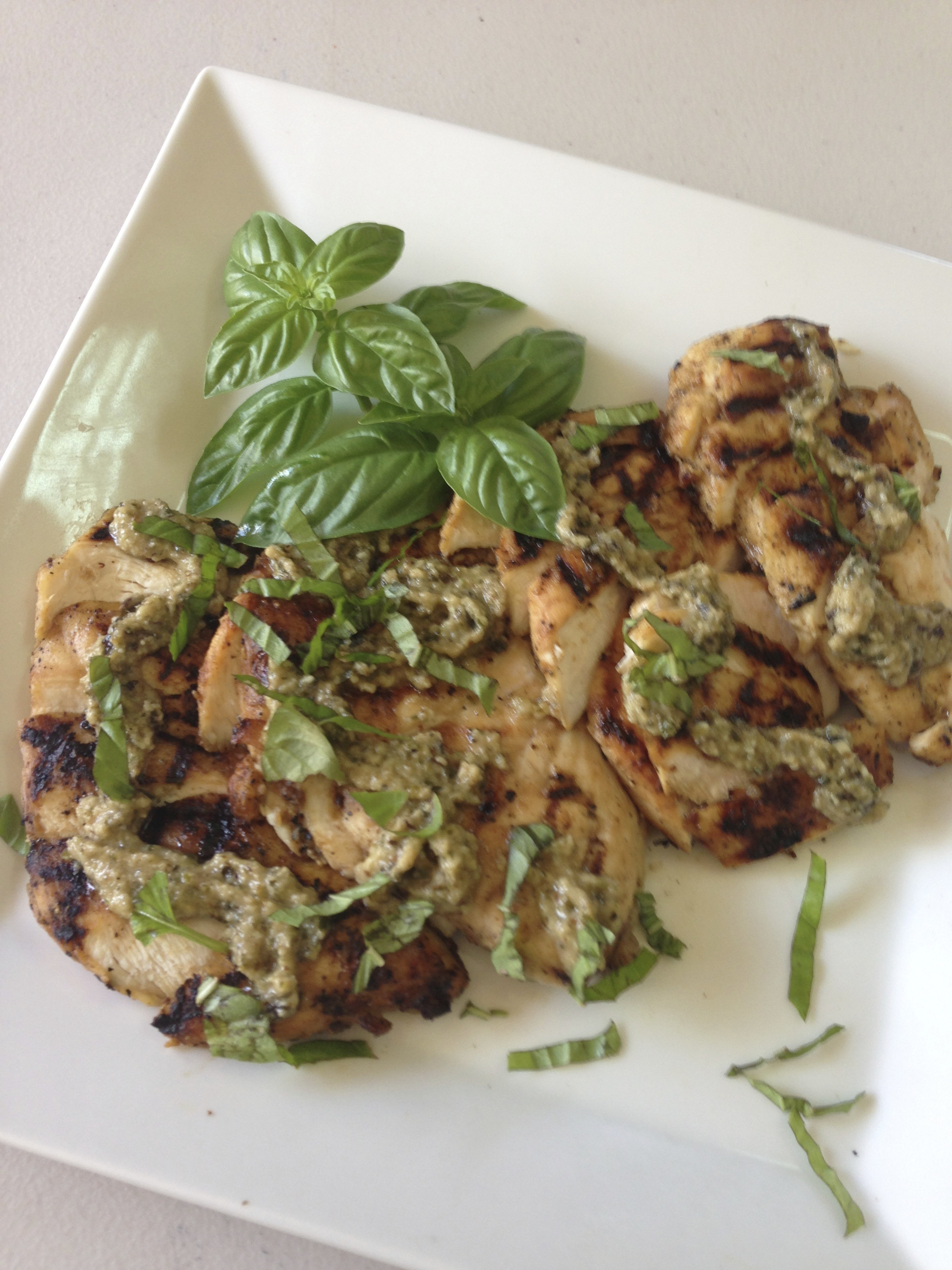 CHICKEN WITH PESTO
