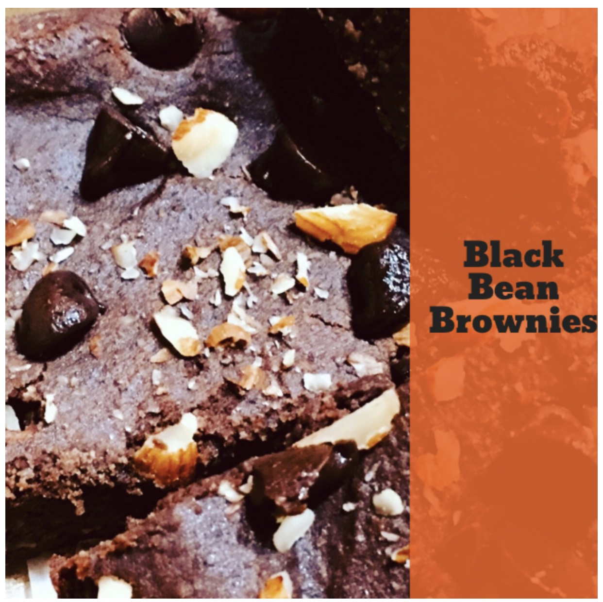 BLACK BEAN BROWNIES - Vegan