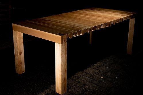 Holztisch Buchen-Spaltholz