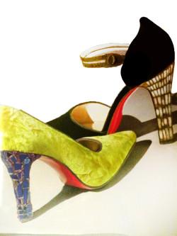 נעלי עקב מפסיפס