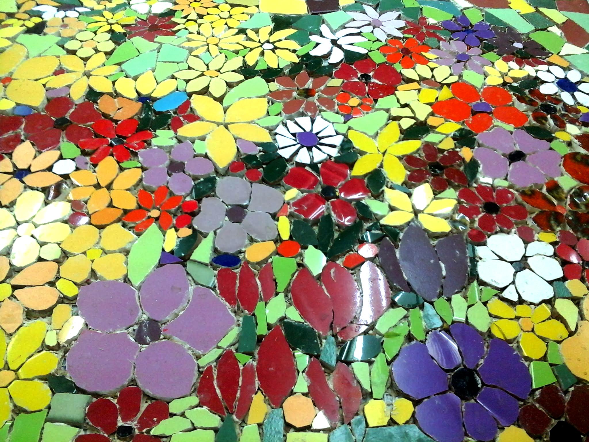 פסיפס פרחים2