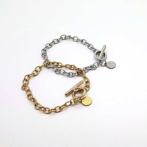 Tiny Logo Toggle Bracelet