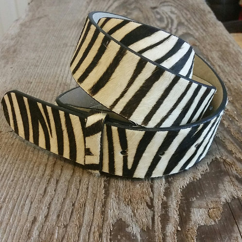 Wild Thing Belt Zebra