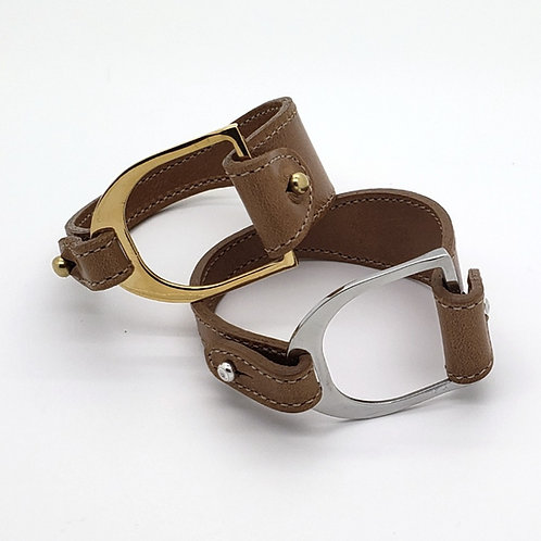 Bridle Leather Stirrup Cuff