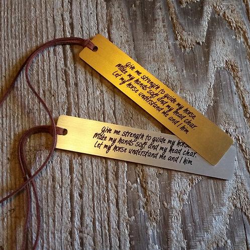 Rider's Prayer Bookmark*