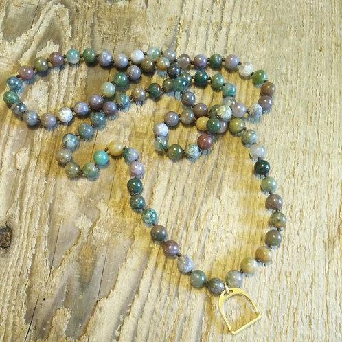 Beaded Stirrup Necklace*