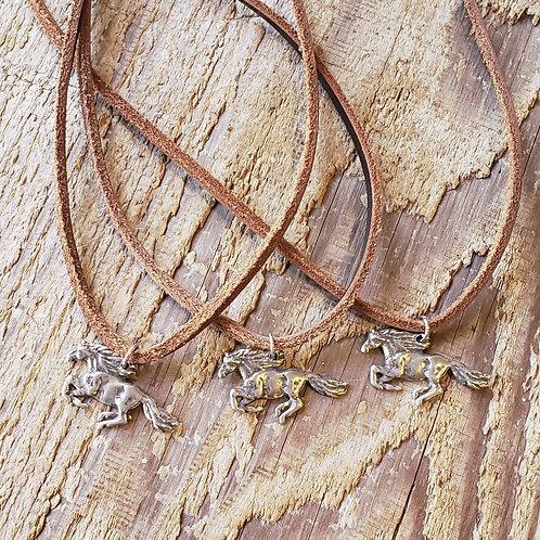 Freedom Horse Pendant Necklace