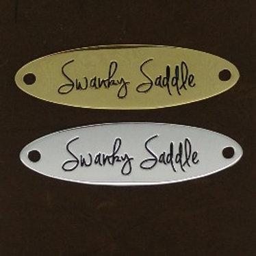 Long Oval Signature Saddle Plate