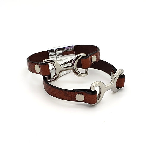 Small Dee Connected Leather Cuff