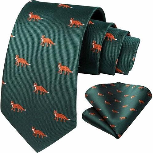 Fox Tie & Pocket Square Set