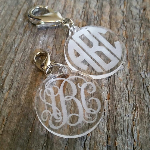 Clear Monogram Bridle Tag