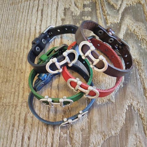 Leather Snaffle Bracelet*