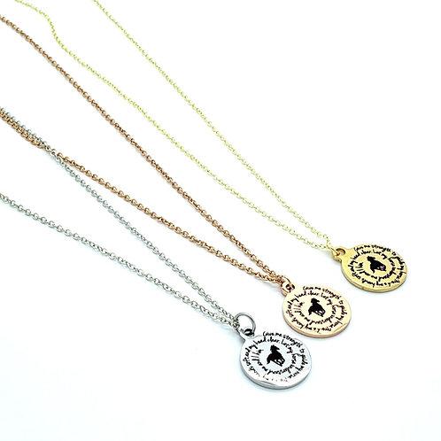 Simple Petite Rider's Prayer Necklace*