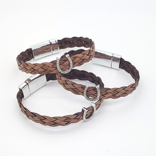 Plaited Lucky Horseshoe Bracelet