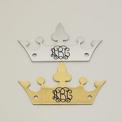Crowned Monogram Saddle Plate