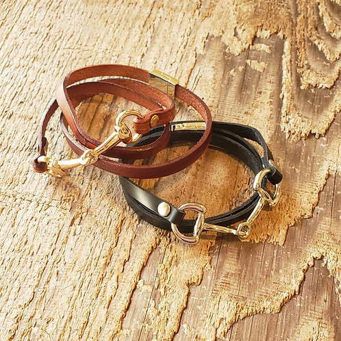 EggButt Leather Wrap Bracelet