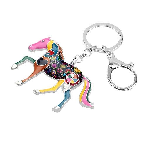 Colorful Enamel Horse Key Chain