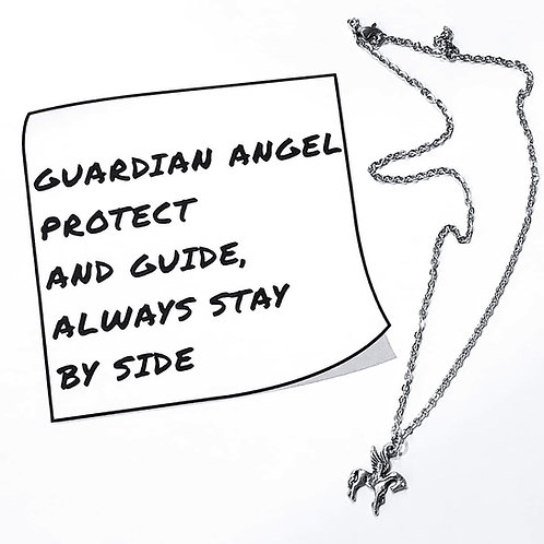 Guardian Angel Pony Pendant Necklace