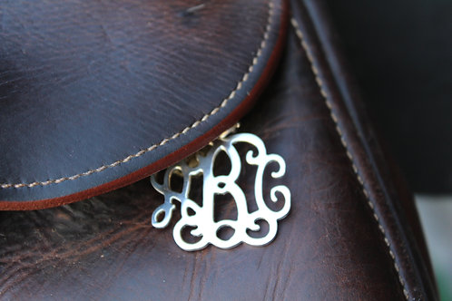 Interlocking Monogram Saddle Tag*