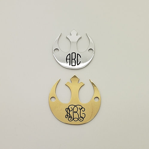 Rebel Alliance Monogram Saddle Plate