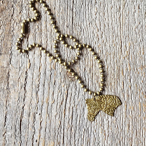 Floral Horse Head Necklace