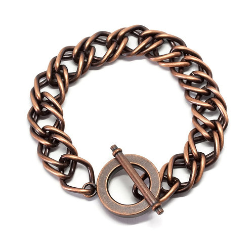 Copper Toggle Curb Appeal Bracelet