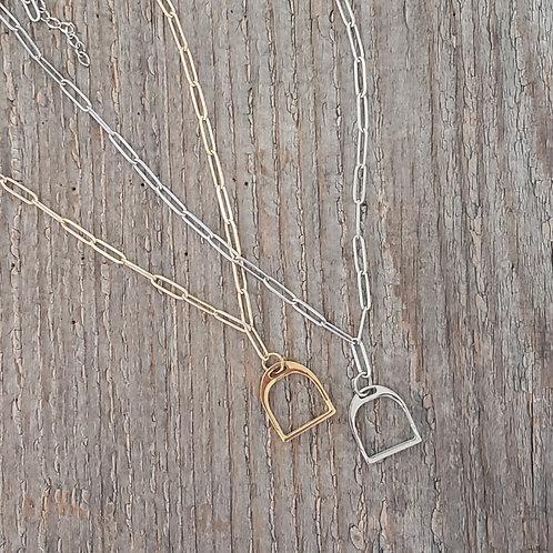 Single Stirrup Necklace