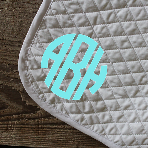 The Saddle Pad Monogram