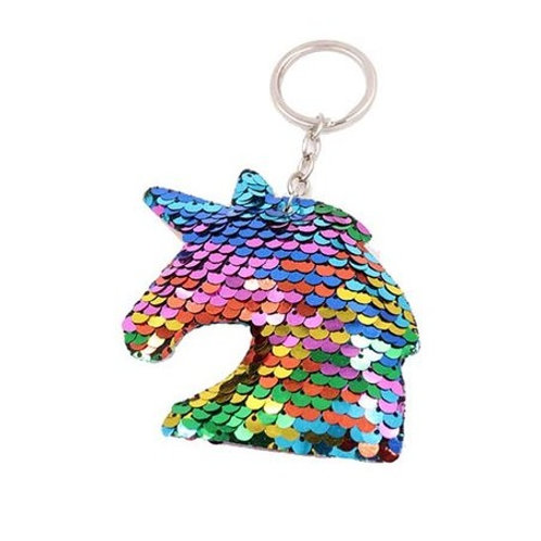 Sequin Unicorn Key Fob