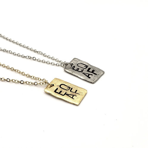 EQ AF Affirmation Necklace