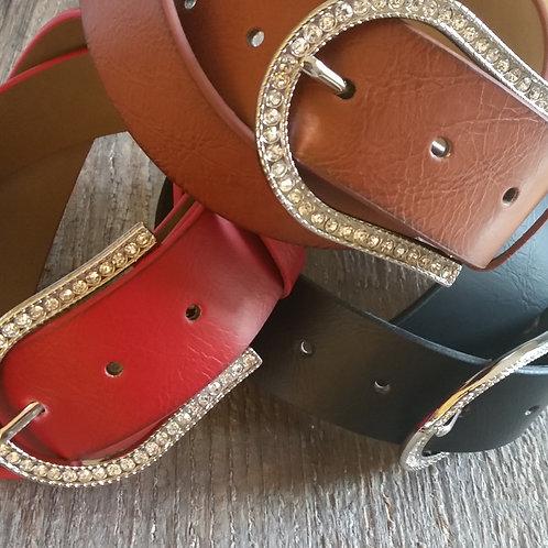 Crystal Horseshoe Belt*