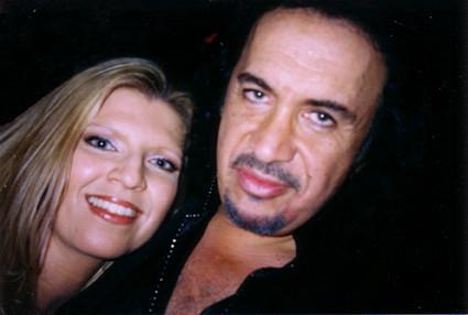 Gene Simmons and Margareta Svensson Riggs
