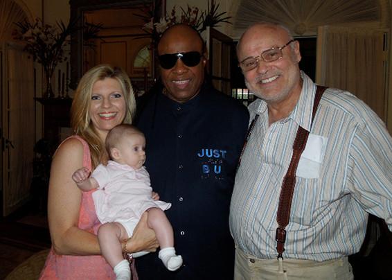 Stevie Wonder, Seth, Samantha and Margareta Svensson Riggs