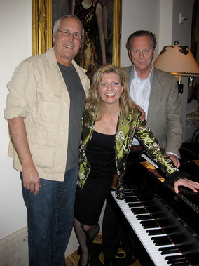 Chevy Chase, Lars Roos and Margareta Svensson Riggs