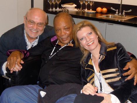 Quincy Jones, Seth Riggs and Margareta Svensson Riggs