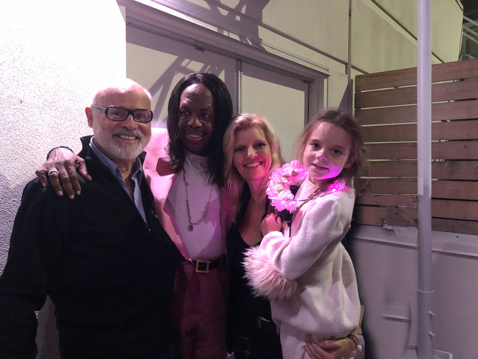 Verdine White (Earth, WInd and Fire,) Seth and Margareta and Samantha Riggs