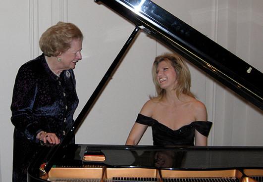 Margaret Thatcher and Margareta Svensson Riggs