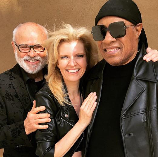 Stevie Wonder and Seth and Margareta Riggs