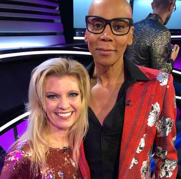 RuPaul and Margareta Svensson Riggs