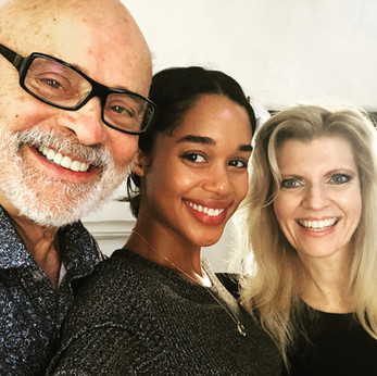 Laura Harrier, Seth and Margareta Riggs