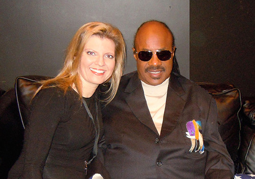Stevie Wonder and Margareta Svensson Riggs