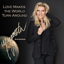 CD cover Love Makes The World-gold text.