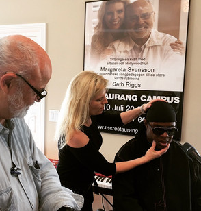 Stevie Wonder, Seth Riggs and Margareta Svensson Riggs