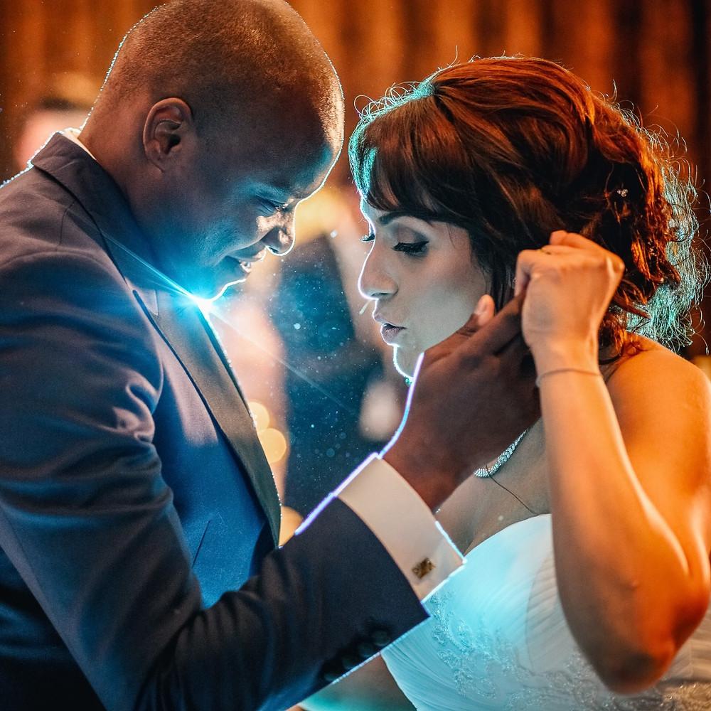first dance, london wedding, canary wharf, interracial marriage, nigerian wedding