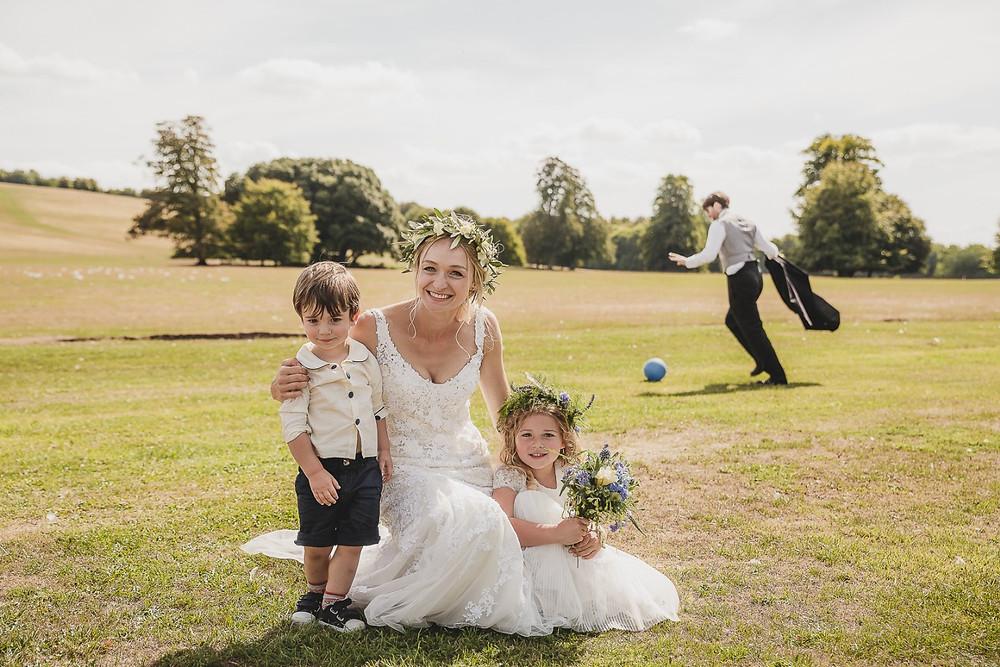 bride, flower girls, wedding, chicester